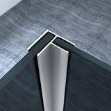 Douchewand Dari 35x200cm Rookglas Chroom Hoekprofiel 10mm Veiligheidsglas Easy Clean _
