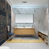 Badkamerspiegel Reina 100x60 Zwart Aluminium Lijst _