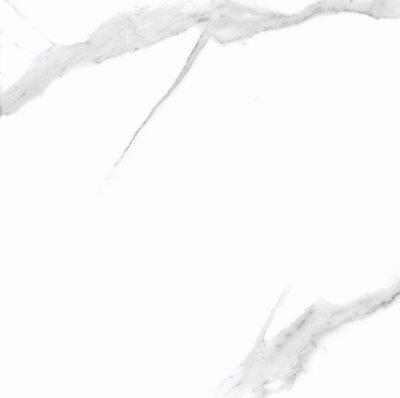 Tegel Statuario Carrara Glans Wit 80x80 Marmerlook Gerectificeerd