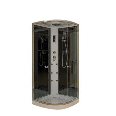 Stoomcabine Fentini Diamond 1 Persoons 90x90x215cm Mengkraan Regendouche Massagejets LED Verlichting