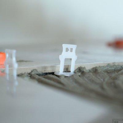 Tile Leveling Spacers Voetstukken 1 mm 200 Stuks Wit