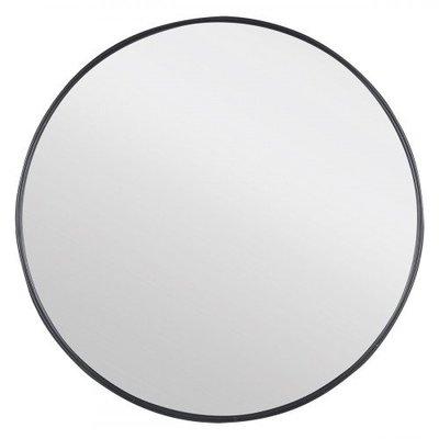 Badkamerspiegel Diano Rond 65x65cm Aluminium Omlijsting Mat Zwart