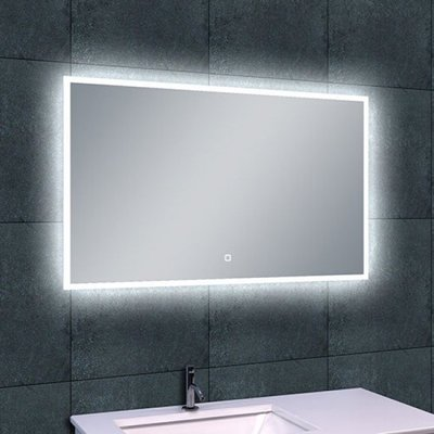 Badkamerspiegel Fenti Quatro 100x60cm Geintegreerde LED Verlichting Verwarming Anti Condens Touch Lichtschakelaar Dimbaar