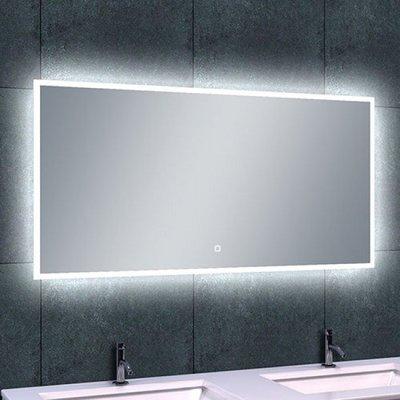 Badkamerspiegel Fenti Quatro 120x60cm Geintegreerde LED Verlichting Verwarming Anti Condens Touch Lichtschakelaar Dimbaar