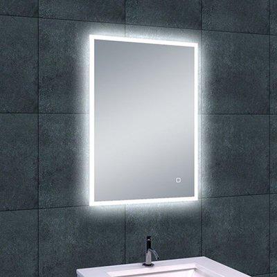 Badkamerspiegel Fenti Quatro 70x50cm Geintegreerde LED Verlichting Verwarming Anti Condens Touch Lichtschakelaar Dimbaar