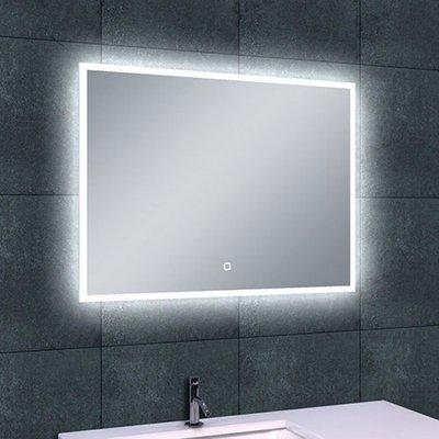 Badkamerspiegel Fenti Quatro 80x60cm Geintegreerde LED Verlichting Verwarming Anti Condens Touch Lichtschakelaar Dimbaar