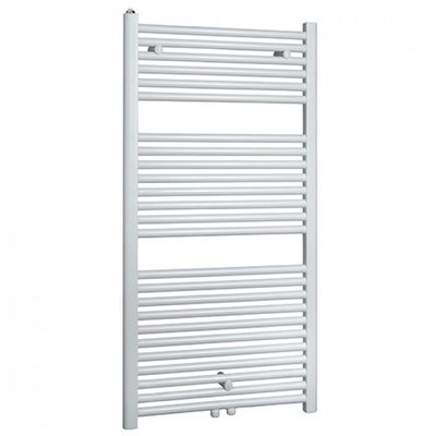 Designradiator Vicenza 120x45cm 538 Watt Glans Wit Middenonderaansluiting