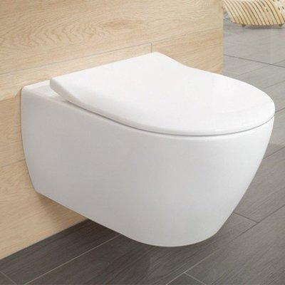 Hangend Toilet - Villeroy en Boch Subway 2.0 Directflush – Wandcloset diepspoel met Slimseat Zitting Softclose en Quick Release wit
