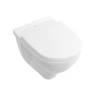 Toiletpot Hangend Villeroy & Boch O.novo 35x36x56cm Direct Flush Diepspoel Wandcloset Keramiek Wit Met Softclose Zitting en Quikrelease
