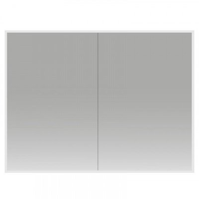Spiegelkast Cinco 100x70x13cm Aluminium Geintegreerde LED Verlichting Sensor Lichtschakelaar Stopcontact Glazen Planken