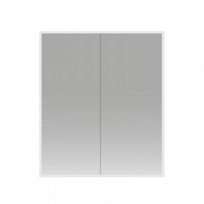 Spiegelkast Cinco 60x70x13cm Aluminium Geintegreerde LED Verlichting Sensor Lichtschakelaar Stopcontact Glazen Planken