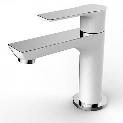 Toiletkraan Rondo Laag Rond Chroom/Wit