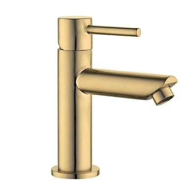 Toiletkraan Nova Laag Rond Geborsteld Goud
